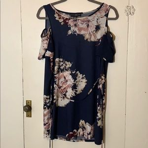 Never-worn Cut-out Navy Floral Top